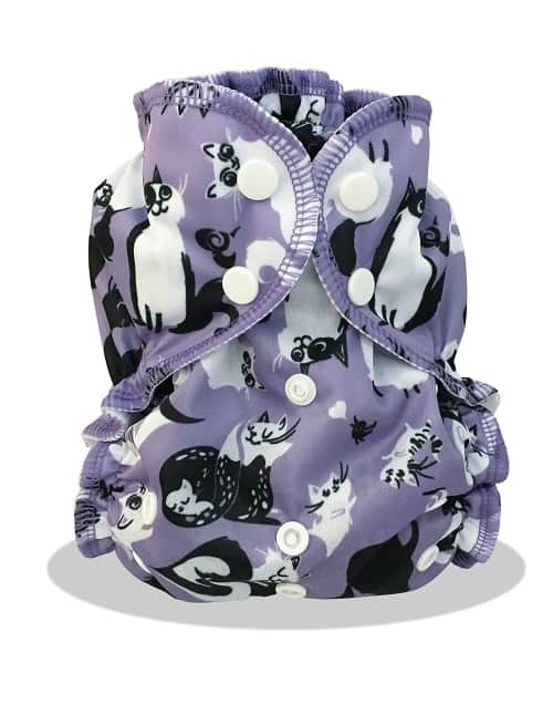 Caturday by Applecheeks Cat Cloth Diapers
