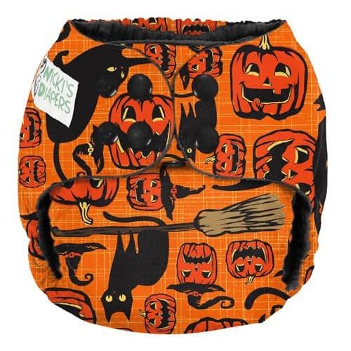 Scaredy Cat Cloth Diaper by Nickis Diapers - Cat Cloth Diapers