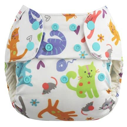 Kittens by Blueberry Cat Cloth Diaper
