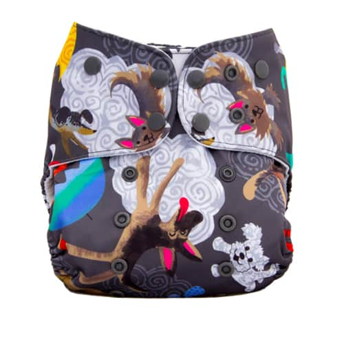 It's Raining Cats & Dogs by Lalabye Baby - Cat Cloth Diaper