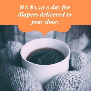 It works out to $3.50 a day for a cloth diaper service, or a cup of coffee - Colorado Cloth Diaper Service with Bundle Baby