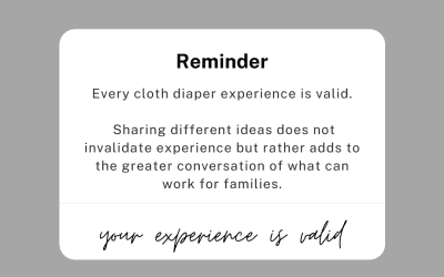 Every Cloth Diaper Experience is Valid