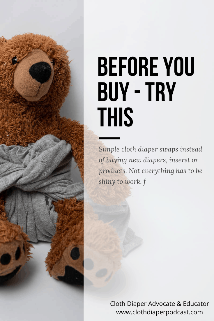 Before you buy new cloth diapers