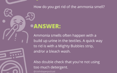 Quick Answers: How do you get rid of ammonia smell in cloth diapers
