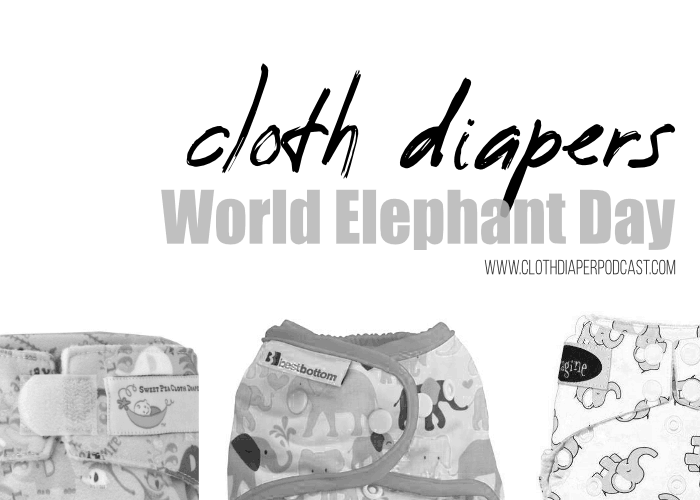 A List of Elephant Cloth Diapers for World Elephant Day